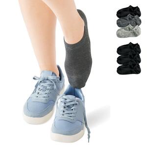 [cecile] Upper Mesh Sneaker Socks, 3 pairs / New Arrival Summer 2020, Inner