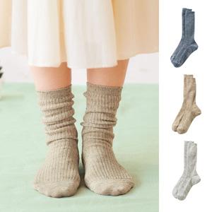 [cecile] Smooth Hemp Blend Loose Socks / New Arrival Summer 2020, Inner