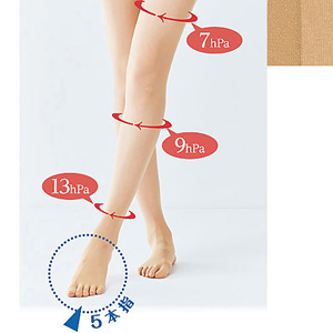[Cecile] 5-Toe Compression Pantyhose / New Arrival Summer 2020, Inner