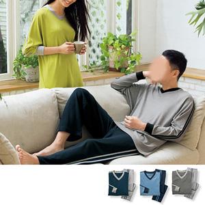 [cecile] V-neck T-type pajamas (unisex)/New 2021 spring-summer item,inner