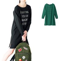 [Cecile] Text Print Dress / Fall & Winter 2018 New Item, Teens', cupop