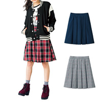 [Cecile] Middle-Length Pleated Skirt / 2018 Winter New Item, Teens, cupop