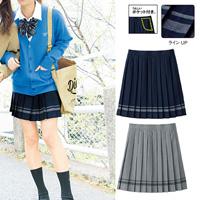 [Cecile] Line Skirt / 2018 Winter New Item, Teens, cupop