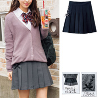 [Cecile] Lace-Up School Skirt / 2018 Winter New Item, Teens, cupop
