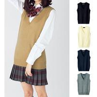 [Cecile] V-Neck Vest (w/ 2018 Winter New Item, Teens, cupop