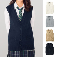 [Cecile] Front-Opening Knit Vest / 2018 Winter New Item, Teens, cupop