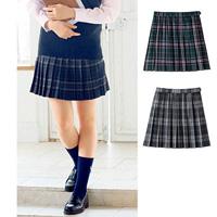 [Cecile] Check Pleated Skirt (Anti-Bacterial, Deodorant) / 2018 Winter New Item, Teens, cupop