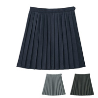 [Cecile] Plain Pleated Skirt (Lined, w/Adjuster) / 2018 Winter New Item, Teens, cupop