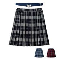 [Cecile] Pleated Skirt (w/Elastic Belt) / 2018 Winter New Item, Teens, cupop