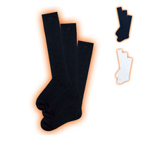 [Cecile] Smart Heat Plain Socks (3-Pair Set) / 2018 Winter New Item, Teens, cupop