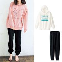 [Cecile] Big Hoodie Type Pajamas / Winter 2018 New Item, Teens', cupop