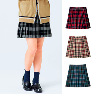 [Cecile] Plaid Pleated Skirt / New Arrival Spring 2020, Teens, cupop