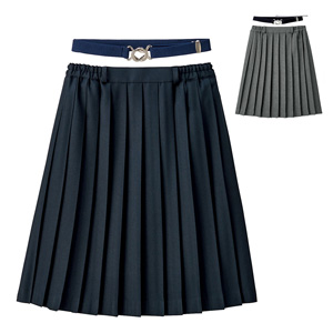 [Cecile] Plain Pleated Skirt (w/Elastic Belt) / New Arrival Spring 2020, Teens, cupop
