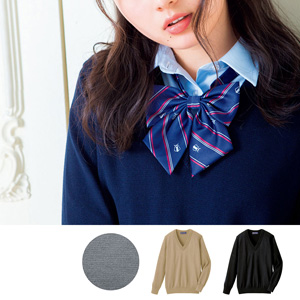 [cecile] Wool V-Neck Knit Made in Japan / New Arrival Winter 2019, Teens, cupop