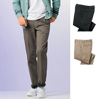 [Cecile] Fleece-Lined Chino Pants (Pleatless) / 2018 Winter New Item, Men's King Size Collection
