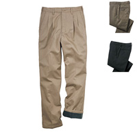 [Cecile] Fleece-Lined Front Double-Pleated Pants / 2018 Winter New Item, Men's King Size Collection