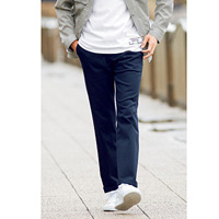 [Cecile] Stretch Chino Pants (Tuckless) Navy / 2018 Winter New Item, Men's King Size Collection