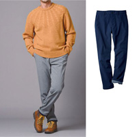 [Cecile] Stretch Fleece-Lined Tapered Pants / Winter 2018 New Item, Men's Large Size