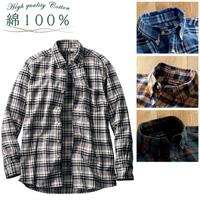 [Cecile] 100% Cotton Flannel Shirt / Winter 2018 New Item, Men's Large Size