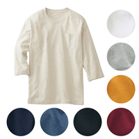 [Cecile] 100% Cotton Crew-Neck Top (3/4-Sleeved) / 2018 Winter New Item, Men's King Size Collection