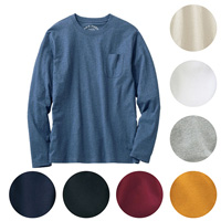 [Cecile] 100% Cotton Crew-Neck Top (Long-Sleeved) / 2018 Winter New Item, Men's King Size Collection
