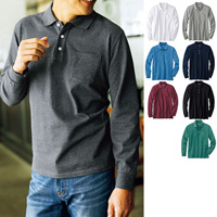 [Cecile] 100% Cotton Polo Shirt (Long-Sleeved) / 2018 Winter New Item, Men's King Size Collection