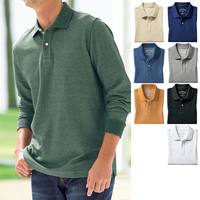 [Cecile] Moisture-Absorbing, Quick-Drying Polo Shirt (Long-Sleeved) / 2018 Winter New Item, Men's