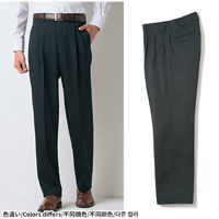[Cecile] Washable Slacks (Two-Tuck) Charcoal Gray / 2018 Winter New Item, Men's King Size Collection