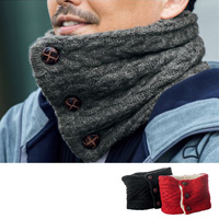 [Cecile] Front-Opening Neck Warmer / Winter 2018 New Item, Men's Large Size