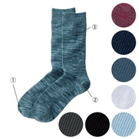 [Cecile] Multicolored Rib Socks, 3-Pair Set / 2018 Winter New Item, Men's King Size Collection