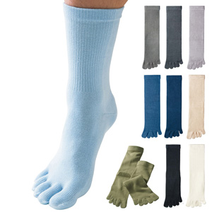 [Cecile] Toe Socks Medium Thick, 3 Pair Set / New Arrival Spring Summer 2020, Mens, Large Sizes