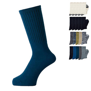 [Cecile] Work Socks, 5-Pair Set / New Arrival Spring Summer 2020, Mens, Large Sizes
