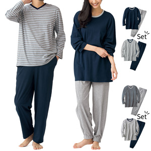 [Cecile] 4-piece Pajama (Unisex) / New Arrival Spring 2020, Mens, Large Sizes