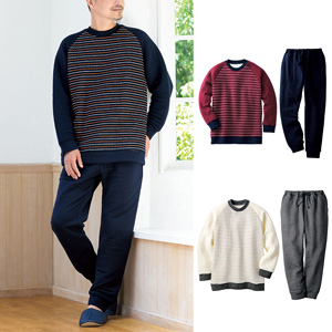 [Cecile] Quilt Raglan Sleeve Pajamas (Unisex)/New 2021 spring-summer item, Mens, Large size