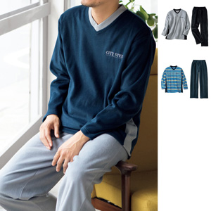 [cecile] T type pajamas (unisex)/New 2021 spring-summer item, Mens, Large size