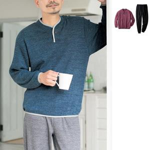 [cecile] Waffle fleece pajamas (unisex)/New 2021 spring-summer item, Mens, Large size