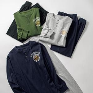 [cecile] Henry-Neck Pajamas/New 2021 spring-summer item, Mens, Large size