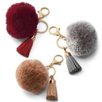 [Cecile] Fur Charm w/Tassel / Fall & Winter 2018 New Item, Plus Size, Plump