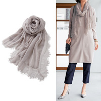 [Cecile] Lace Scarf / Fall & Winter 2018 New Item, Plus Size, Plump