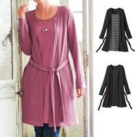 [Cecile] Layered-Style Dress / Winter 2018 New Item, Plus Size, Plump