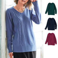 [Cecile] Varied Knit Top / Winter 2018 New Item, Plus Size, Plump