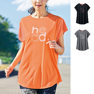 [cecile] Tunic Length Logo T-Shirt (HEAD) / New Arrival Spring 2020, Ladies