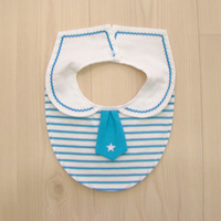 Think-B Dress-Up Bib, Striped [Made In Japan] [Home Goods]