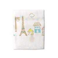 Think-B Gauze Towel, Eiffel Tower Pattern [Made In Japan] [Home Goods]