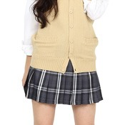 Teens' School Skirt (Gray/White)