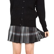 Teens' School Skirt (Black /White)