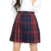 Teens' School Skirt (Navy/Ruby)