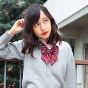 Teens' School Necktie, Pattern Bow, Dark Red/TE Crest