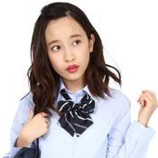 Teens' School Necktie, Pattern Bow, Navy/Green/White