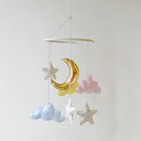 BB Baby Mobile, Moon, Pastel